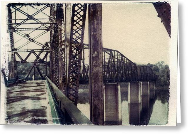 Best Sellers -  - Transfer Greeting Cards - Chain Of Rocks Bridge Greeting Card by Jane Linders
