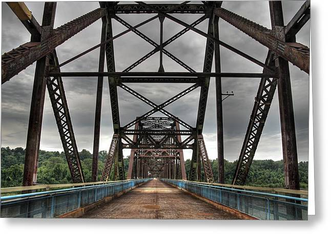 Chain Of Rocks Bridge Route 66 Greeting Card