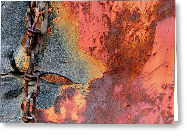 Chained Greeting Card by Doug Hockman Photography