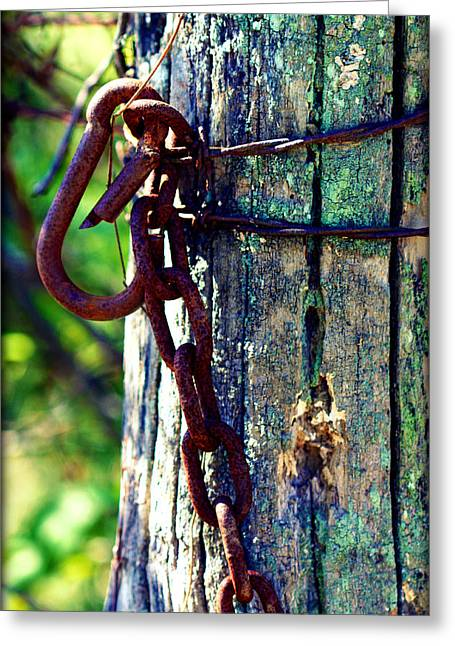 Chained Post Greeting Card
