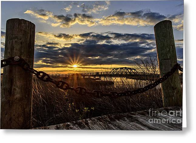 Greeting Card featuring the photograph Chained View by DJA Images