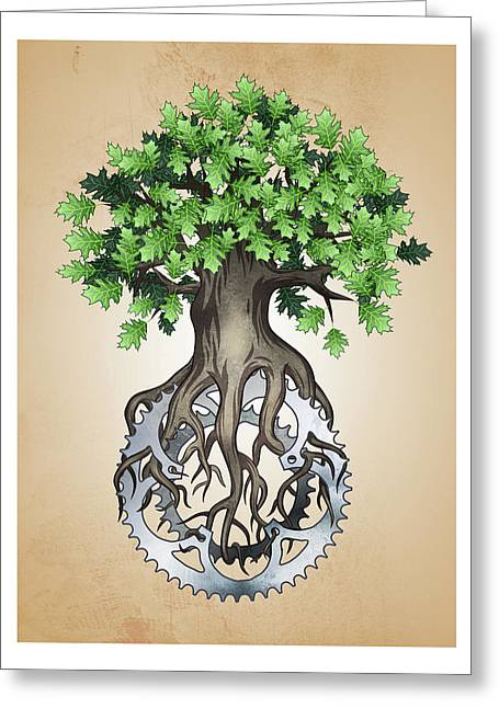 Chainring Tree Greeting Card
