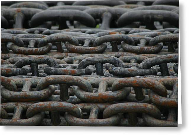 Chains Greeting Card by Hans Jankowski
