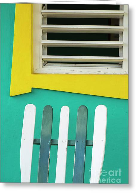 Greeting Card featuring the photograph Chair And Window by Brenda Tharp