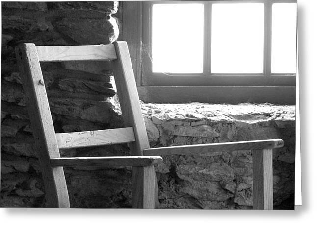 Chair By Window - Ireland Greeting Card by Mike McGlothlen