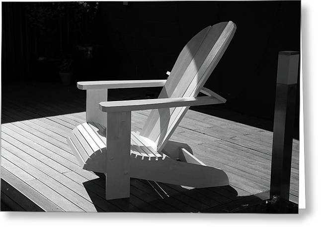 Chair In Black And White Greeting Card