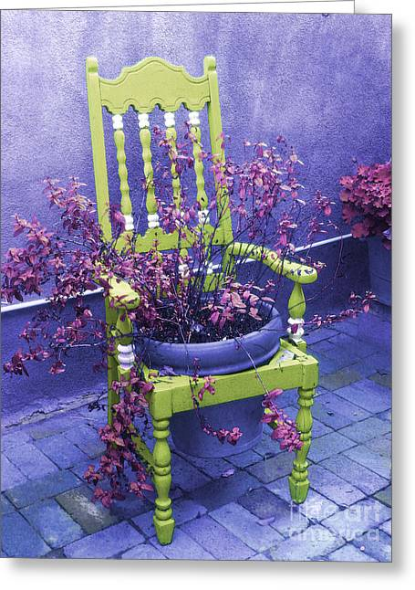 Chair In Chartreuse		 Greeting Card