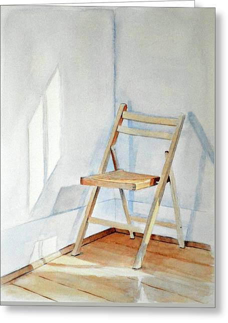 Chair In Corner Greeting Card