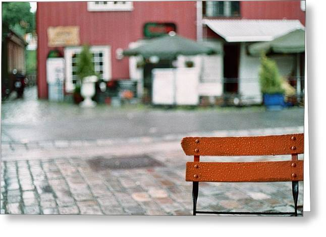 Chair In Trondheim Greeting Card by Gregory Barger