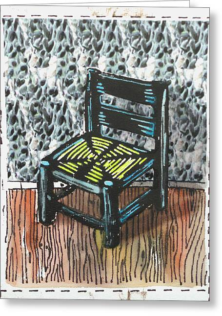 Chair Ix Greeting Card by Peter Allan