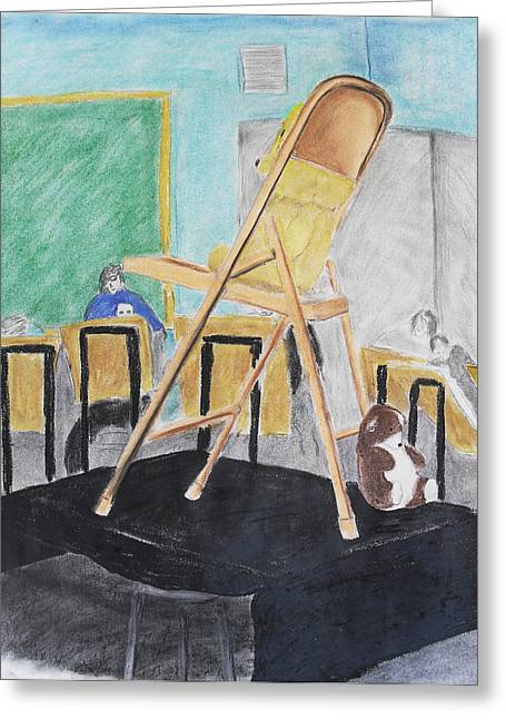 Chair Life Study Greeting Card by M Valeriano