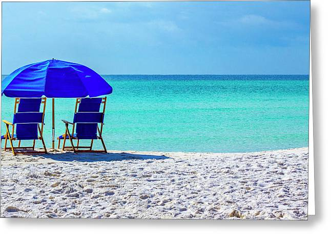 Beach Chair Pair Greeting Card