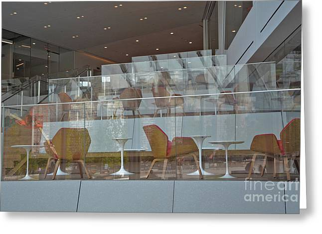 Chair Reflections Greeting Card by Andrea Simon
