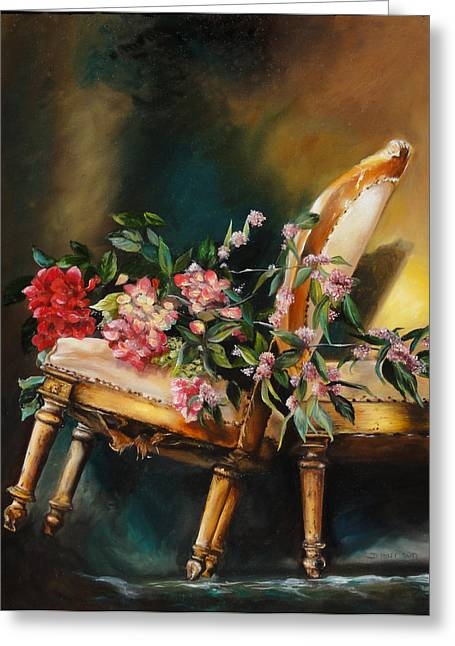 Chair Tilt Greeting Card by Denise H Cooperman