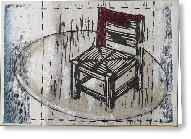 Chair Vii Greeting Card by Peter Allan