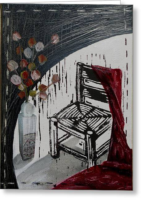 Chair Viii Greeting Card by Peter Allan