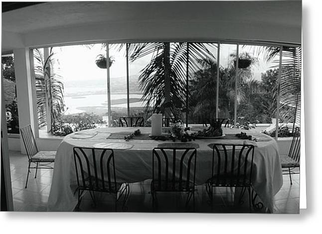 Chairs Around A Dining Table, Montego Greeting Card by Panoramic Images