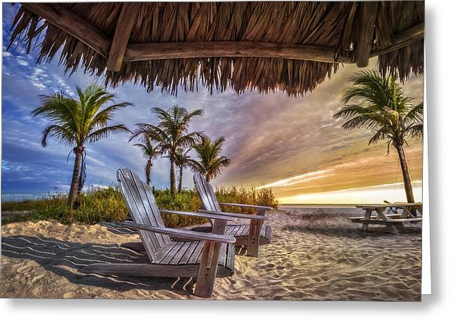 Chairs On The Beach Greeting Card