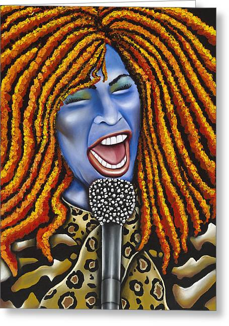 Chaka Greeting Card by Nannette Harris