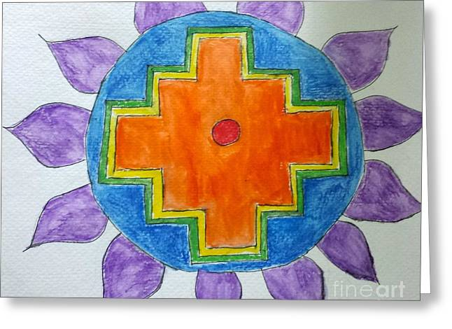 Chakana Inka Cross Greeting Card