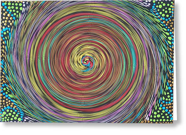 Chakra Swirl Greeting Card by Vijay Sharon Govender