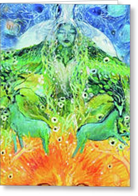 Chakra Totem Rainbow Dreams Greeting Card by Ashleigh Dyan Bayer