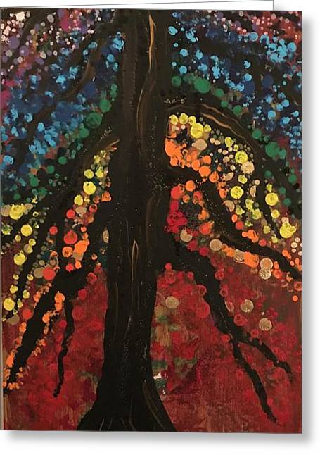 Chakra Tree Greeting Card