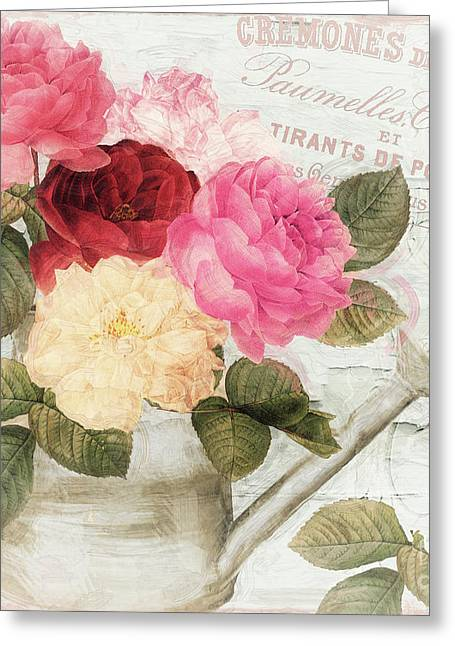 Chalet D'ete Roses Greeting Card by Mindy Sommers