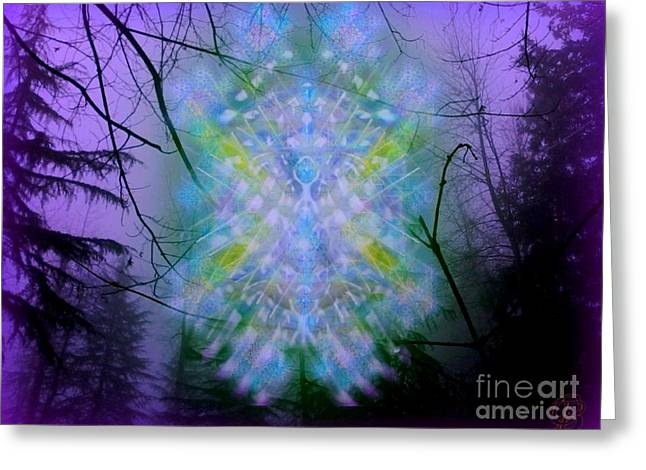Chalice-tree Spirit In The Forest V1a Greeting Card