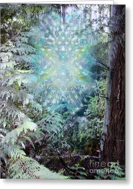 Chalice-tree Spirit In The Forest V3 Greeting Card by Christopher Pringer