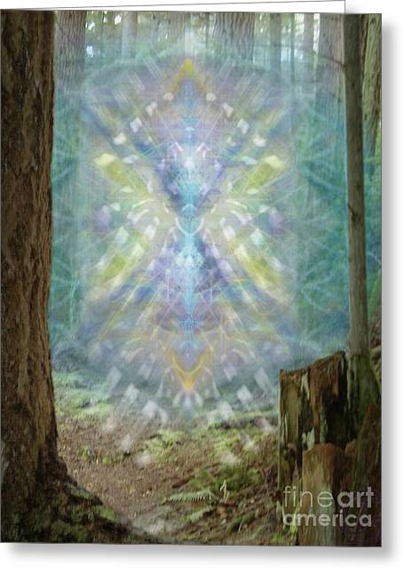 Chalice-tree Spirt In The Forest V2 Greeting Card by Christopher Pringer