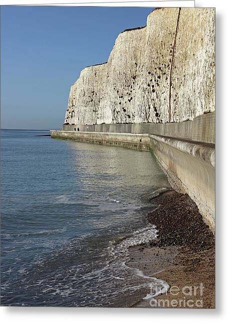 Chalk Cliffs At Peacehaven East Sussex England Uk Greeting Card
