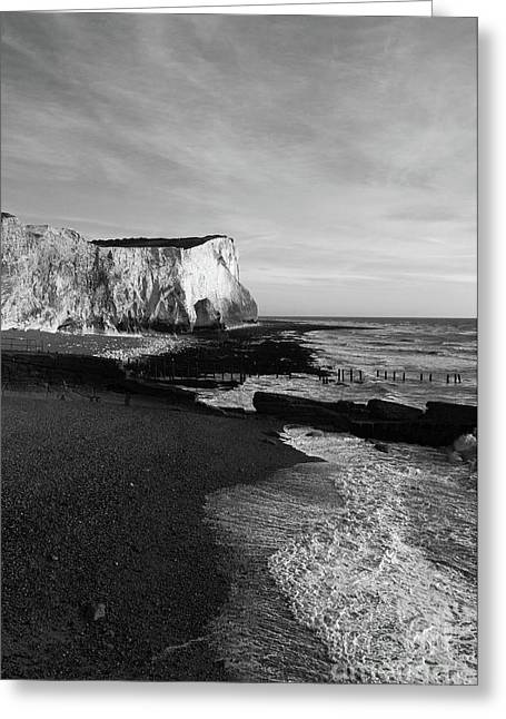 Chalk Cliffs At Seaford Head England Greeting Card by James Brunker