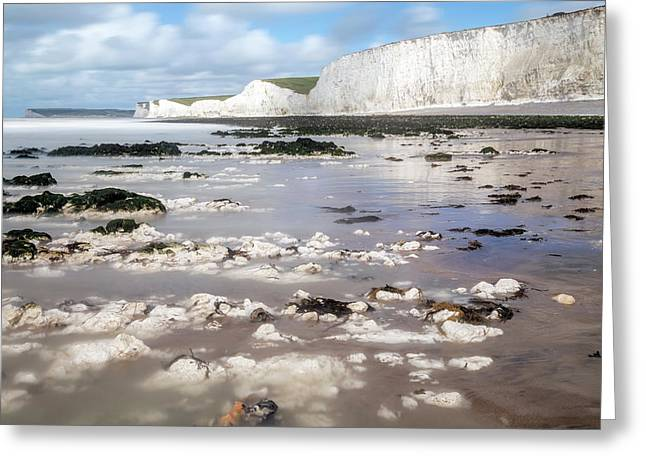 Chalk Cliffs Seven Sisters - England Greeting Card