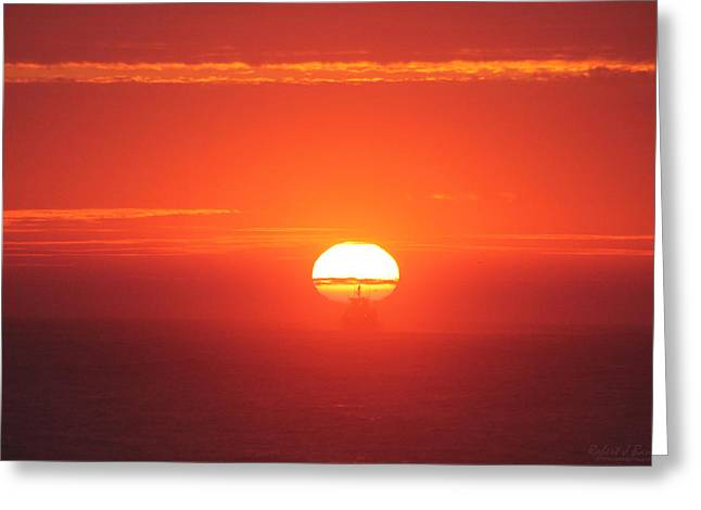 Challenging The Sun Greeting Card