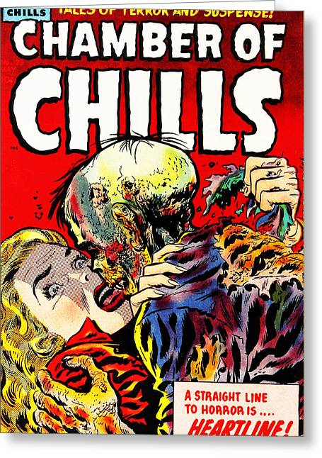 Chamber Of Chills 23 Greeting Card by Halloween Dreams