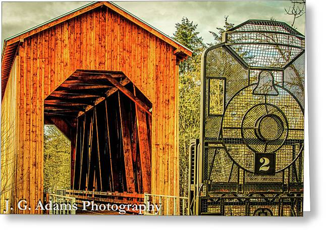 Chambers Railroad Bridge Greeting Card