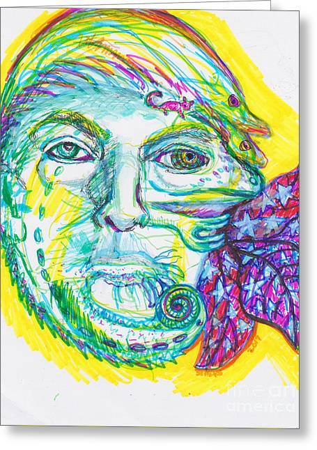 Chameleon Trump 2 Greeting Card