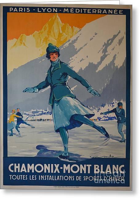 Chamonix Mont Blanc Greeting Card by Pd