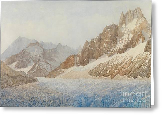 Mountains Greeting Cards - Chamonix Greeting Card by SIL Severn