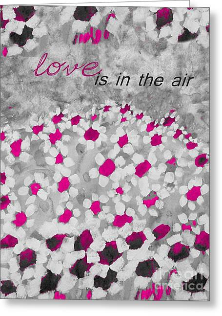 Champs De Marguerites - Love Is In The Air - Pink-05b Greeting Card