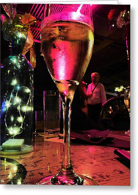 Greeting Card featuring the photograph Champagne And Jazz by Lori Seaman