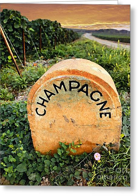 Champagne Area  Greeting Card