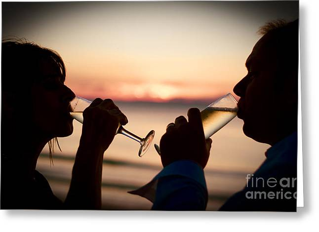 Champaign Celebration Greeting Card by Jorgo Photography - Wall Art Gallery