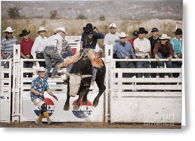 Champion Bull Rider Greeting Card
