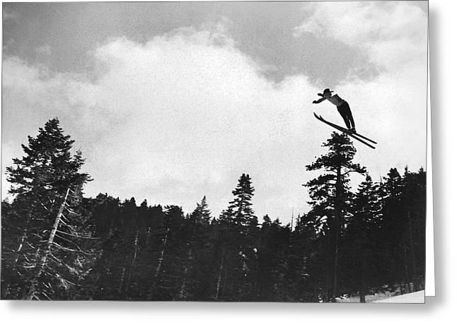 Champion Ski Jumper Greeting Card