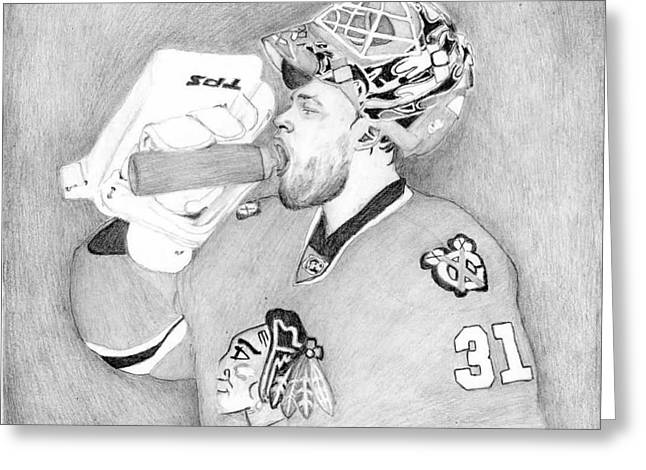 Championship Goalie Greeting Card by Kiyana Smith