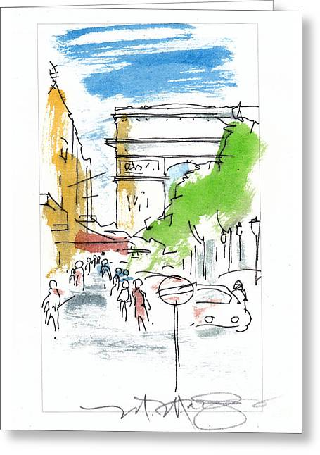 Champs Elysee Paris Greeting Card