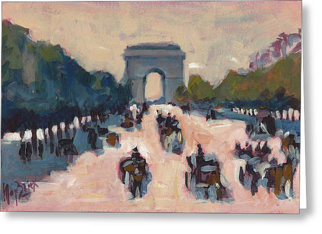 Champs Elysees Paris Greeting Card