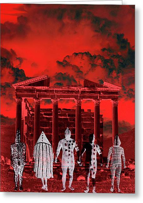 Chance Encounter In The City Of The Dead Greeting Card by Mark Myers